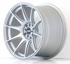 "XXR 527 18"" x 8.75J ET20 5x100 5x112 FLAT SILVER WIDE RIMS ALLOYS WHEELS Z2109"