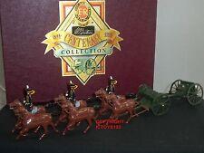 Britains 8825 Reyes tropa Royal Caballo pistola de artillería equipo soldado de juguete figura Set