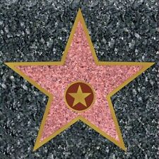 Hollywood Star Stickers - 29 x 28.5 - Peel and Place Party Floor Decorations