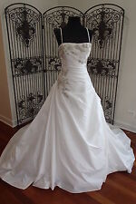 N54 BLUE BY ENZOANI ANDOVER SZ 10 STRAPLESS BEADED WEDDING GOWN