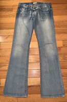 Buckle BKE Denim Madison Womens Stretch Distressed Bootcut Jeans Sz 27x33 1/2