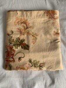 Vtg Ralph Lauren Sussex Gardens Shower Curtain Peach Floral White Label RARE