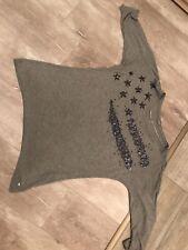 S Oliver Shirt 42 grau Pailletten 3/4 Arm