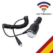 ACTECOM® CARGADOR COCHE MICRO USB 1 A REAL PARA  BQ AQUARIS E5 FULL HD / E5 HD