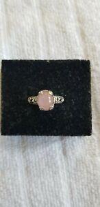 Pink Jade Ring Size 8
