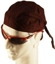 Solid Brown Biker Durag Doo Rags Head Wrap Skull CapBandanna Chemo Cotton
