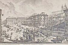 Giovanni Battista PIRANESI 1720 - 1778 - Veduta di Piazza di Spagna