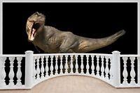 Huge 3D Balcony Fantasy Dinosaur Wall Stickers Film Decal Wallpaper 592