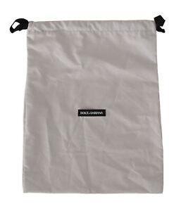 DOLCE & GABBANA Dustbag Cover Bag Cotton White Drawstring Shoebag 38cm x 30cm