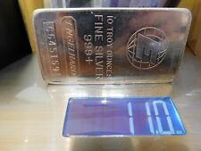 """10 oz. Silver Bar - Engelhard .999 Fine - Tall """"E""""/Serial/Logo #C645159"""