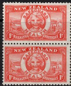 """New Zealand. 1936. Health. """"Life Buoy"""". Pair. MUH."""