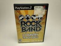 🔥SONY PS2 PlayStation Two 💯COMPLETE WORKING GAME🔥ROCK BAND COUNTRY TRACK PACK