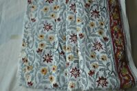 * Floral Fabric 100%Cotton Women Dress Voile Fabric 20 Yard Indian Hand Block