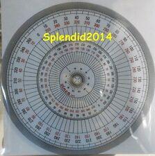 Full circle protractor diameter 15 cm 360 degree ruler art drawing design