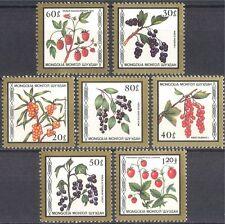 Mongolia 1987 FRUTTA bacche / / piante / NATURA / Cibo / Fragole 7V Set (n17562)