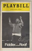 """Zero Mostel   """"Fiddler On The Roof""""   Playbill   1977   Broadway   Revival"""
