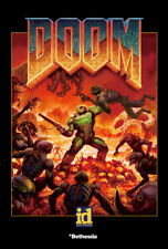 X442 The Ultimate DOOM 4 Game Art Silk 12x8 40x27inch Poster