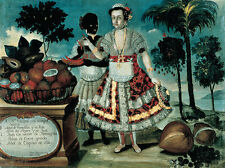 Spanish Lady with her black woman Slave vicente Alban esclava adel B a3 03270