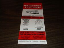 JULY 1959 ADIRONDACK TRAILWAYS BUS SCHEDULE