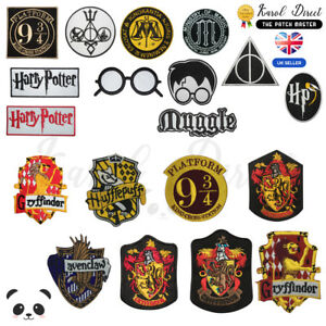 Harry Potter Gryffindor Ravenclaw Slytherin Embroidered Sew/Iron On Patch Badge