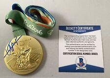 Olympics Usain Bolt Signed Gold Medal Rio Olympics 16 Beckett BAS COA