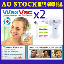 2x WAXVAC Cordless Ear Vacuum Cleaning Cleaner System As Seen On Tv