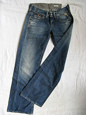Replay Damen Blue Jeans Denim Baggy W27/L32 extra low waist loose fit wide leg