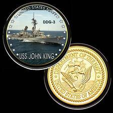 USS John King (DDG-3) GP Challenge pinted Coin