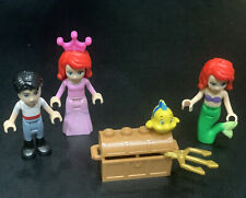 Lego Minifigure Disney Little Mermaid Ariel Flounder Extras Friends Prince Eric