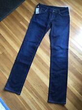 NWT PRADA Authentic Womens Raw Dark Wash Denim Jeans Sz 28 X 34 Contour Fit NEW