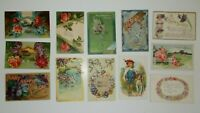 LOT OF 25 HAPPY BIRTHDAY  GREETINGS ANTIQUE  POSTCARDS