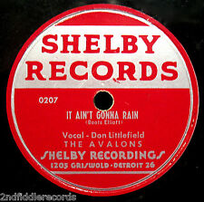 THE AVALONS-It's Time That We Say Goodnight-Nice Quality Doo Wop 78-SHELBY #0208
