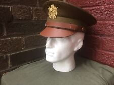 WW2 US officers brown visor cap size 58cm