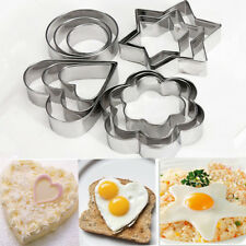 Shape Biscuit Heart Stainless Steel Flower Cake Star Mold Cookie Cutter Mould