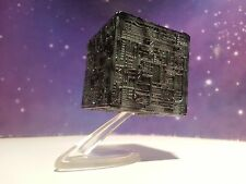 STAR TREK BORG CUBE TNG VOYAGER MOVIES MICRO MACHINES MODEL SHIP TOY & STAND