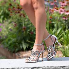 Schutz Women's Darleneh Dress Sandal, Prata Spechio/Silver Sz 6B