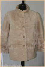 VINTAGE Manteau Veste FOURRURE Marron Clair T 38 BE