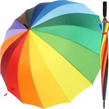 iX-brella Regenschirm Regenbogen XXL 16-teilig groß bunt - leichter Golfschirm