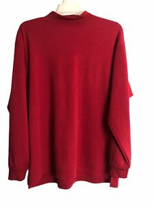 Vintage FootJoy Golf Cover Up Shirt Men's Size XL Red Made USA 90s
