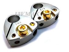 1 Set Car Battery Terminal Positive & Negative Amp/Sub 4 / 8 Gauge AWG B048p/n