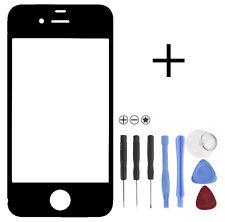 Front Glas Scheibe für Apple iPhone 4 S Display Schwarz mit Werkzeug Black