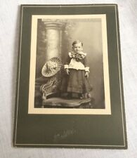 Little Boy in Dress Suit and Sombrero Dewey Sturhamn Age 2 Vintage Photo Named