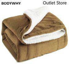 Flannel Soft Warm Blanket Winter Sheet Bedspread Sofa Cushion Plaid Throw