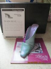 Just The Right Shoe by Raine Shoe Miniature - Purple Passion 25362 with Coa