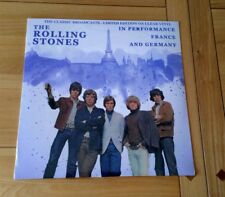 The Rolling Stones In Performance France & Germany 2017 Euro LP Clear Vinyl New