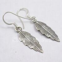 925 Solid Silver Dangle Earrings Women Handmade Jewelry