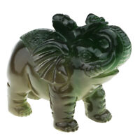 Chinese Elephant Shaped Feng Shui Tea Pets See Water Discoloration Green