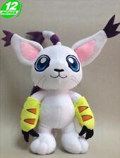 "FAST SHIPPING Tailmon Gatomon 12"" 30 cm Digimon Adventure Soft Plush Toy Doll"