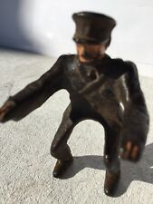 Vintage Hubley Cast Iron Motorcycle Driver / Rider Policeman Only
