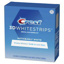 Crest 3d Whitestrips Noticeably White 20 Strips/ 10 Treatments Exp 02/2022